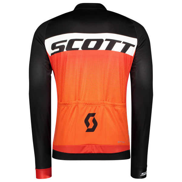 Scott RC AS WP l/sl Shirt black/tangerine orange