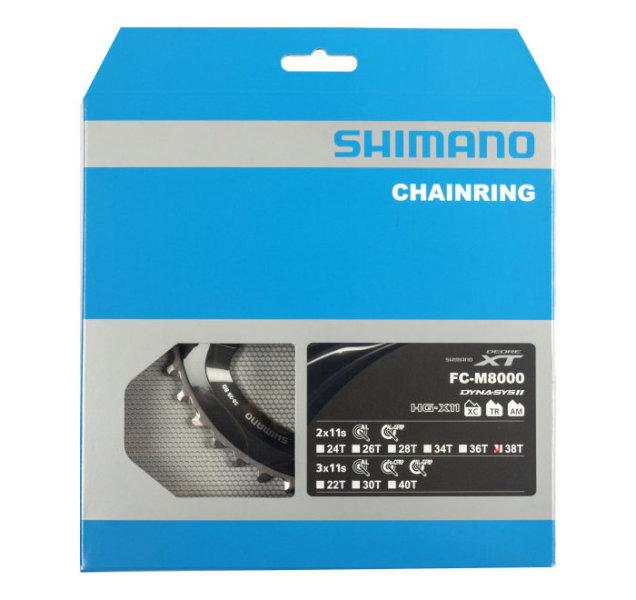 Shimano Deore XT FC-M8000 2-fach Kettenblatt