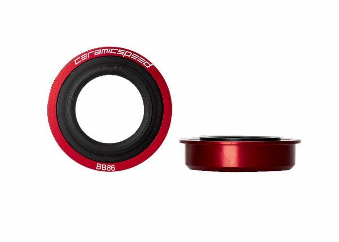 CeramicSpeed Innenlager Pressfit BB86 Shimano, Red, Coated