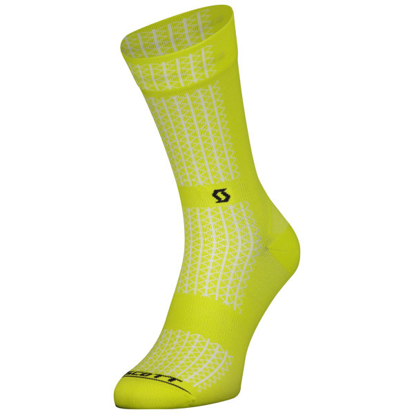 Scott Performance Crew Sock sulphur yellow/black