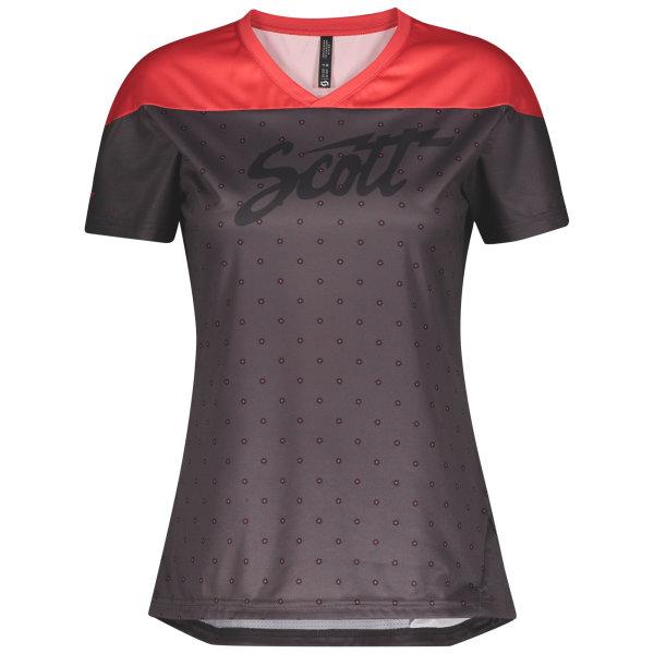 Scott Trail Flow Damen-Shirt s/sl dark grey/lollipop pink