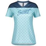 Scott Trail Flow Damen-Shirt s/sl stream blue/lunar blue