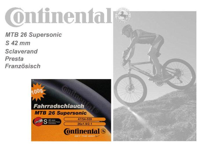 Conti MTB Schlauch Supersonic franz. Ventil