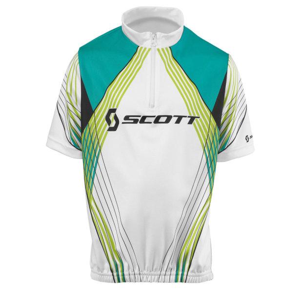 Scott Shirt JR Race white lime green