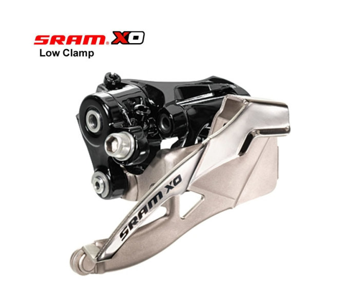 SRAM X0 Umwerfer 2x10 Low Clamp 31,8 + 34,9 mm 36/38 Zähne Bottom Pull